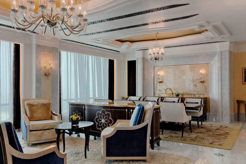 The St. Regis Abu Dhabi Luxury Hotel - Abu Dhabi, United Arab Emirates - Al Hosen Suite Living Room