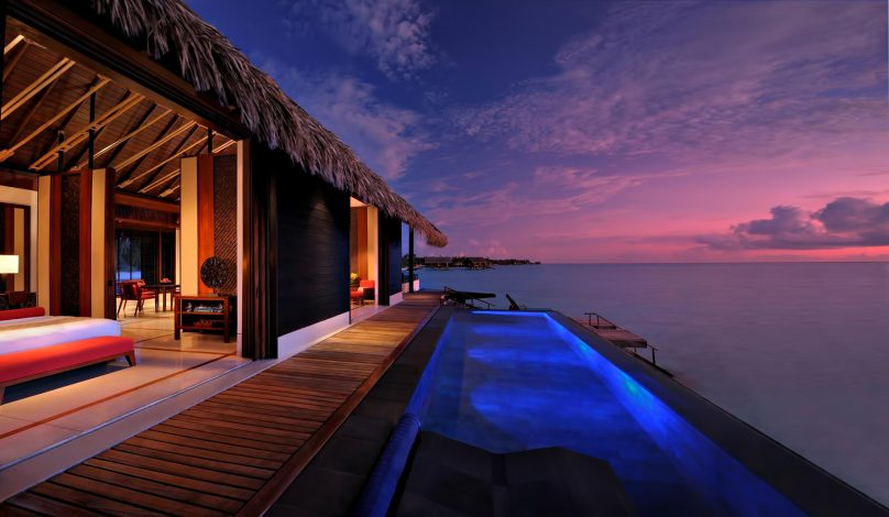 One&Only Reethi Rah Luxury Resort - North Male Atoll, Maldives - Overwater Villa Infinity Pool Sunset