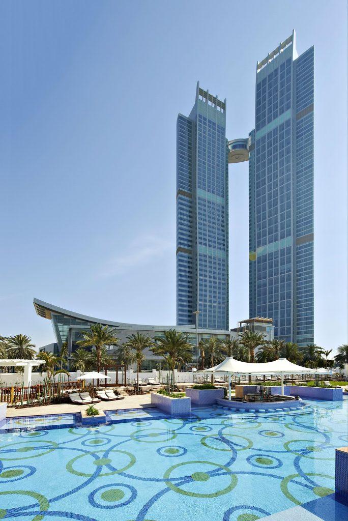The St. Regis Abu Dhabi Luxury Hotel - Abu Dhabi, United Arab Emirates - Tower View Nation Riviera Beach Club Pool