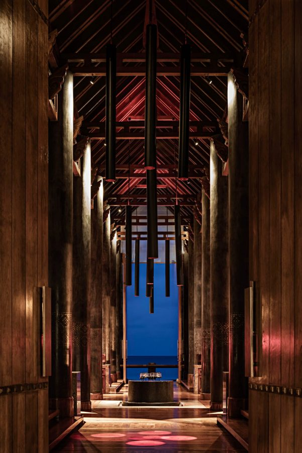 One&Only Reethi Rah Luxury Resort - North Male Atoll, Maldives - Fire Overwater Restaurant Night