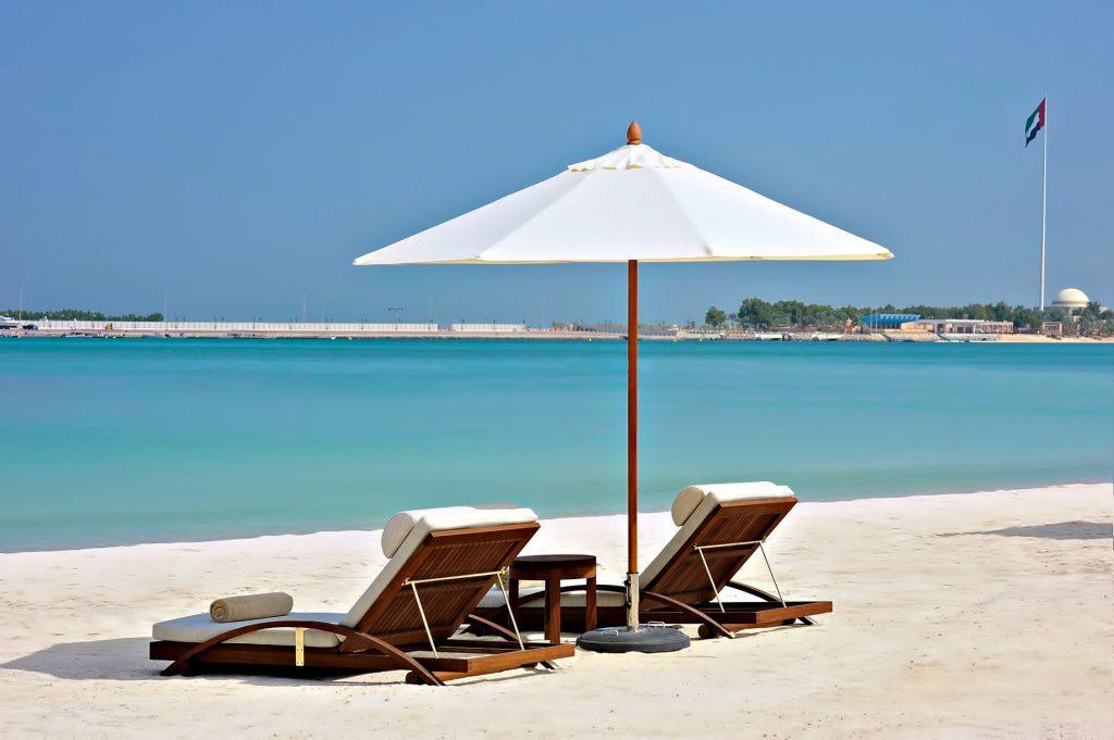 The St. Regis Abu Dhabi Luxury Hotel - Abu Dhabi, United Arab Emirates - Private Beach Chairs