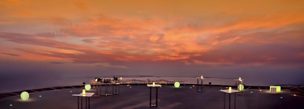 The St. Regis Abu Dhabi Luxury Hotel - Abu Dhabi, United Arab Emirates - Helipad Sunset