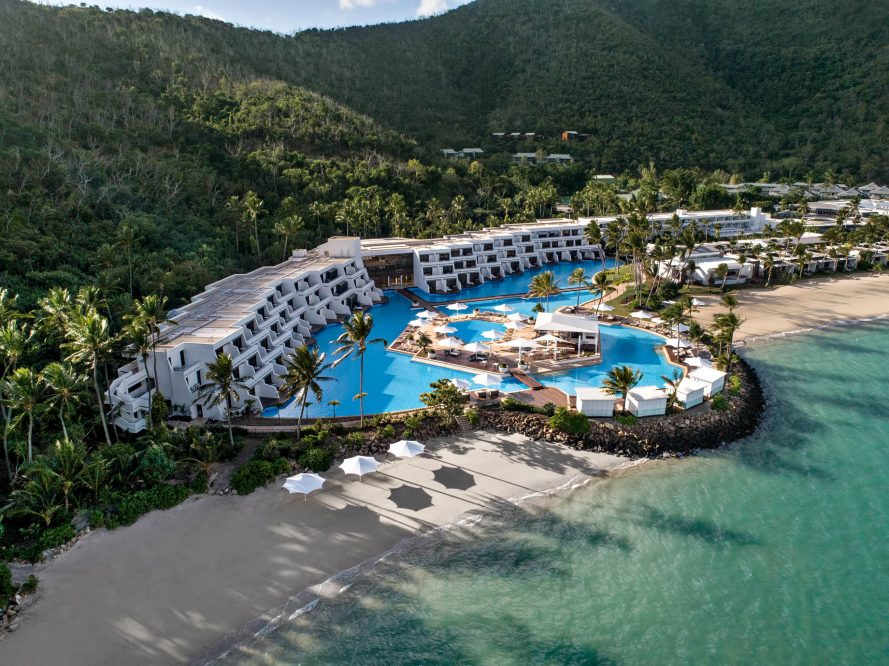 InterContinental Hayman Island Resort - Whitsunday Islands, Australia - Resort Aerial Main Pool