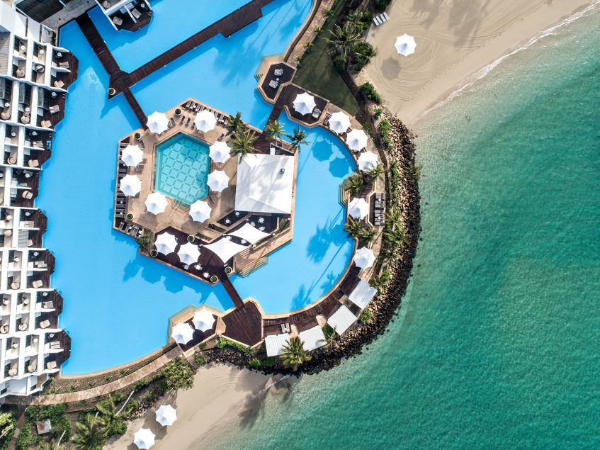 InterContinental Hayman Island Resort - Whitsunday Islands, Australia - Resort Pool Overhead View