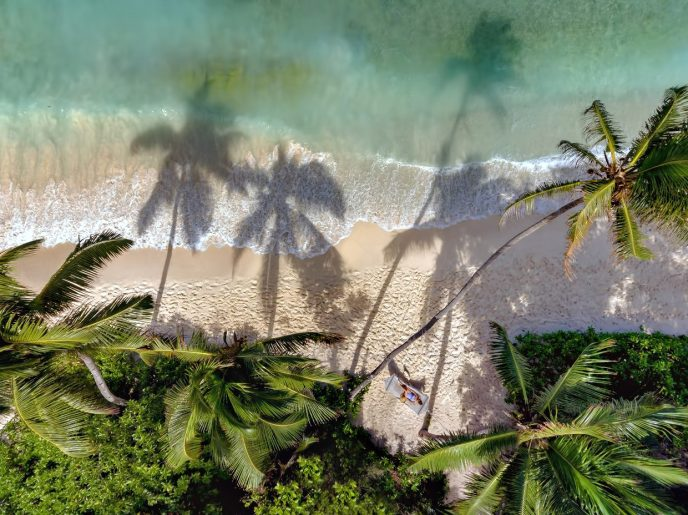Six Senses Zil Pasyon Luxury Resort - Felicite Island, Seychelles - Overhead Beach