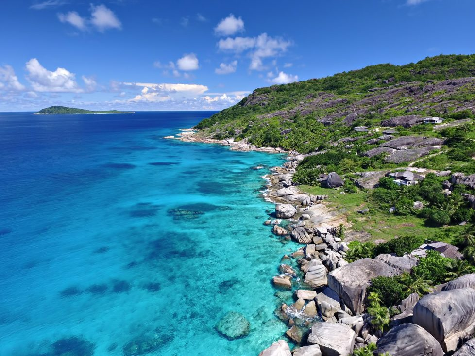 Six Senses Zil Pasyon Luxury Resort - Felicite Island, Seychelles - Rocky Tropical Island