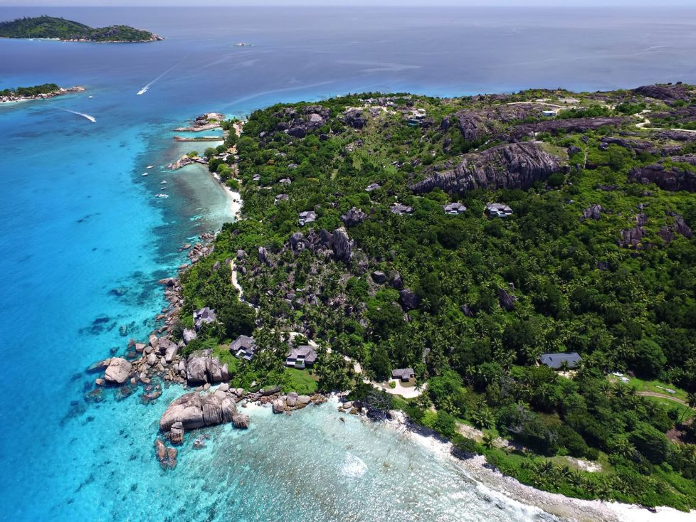Six Senses Zil Pasyon Luxury Resort - Felicite Island, Seychelles - Island Villa Aerial