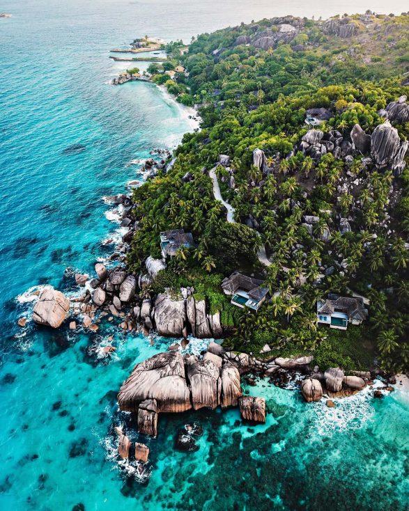 Six Senses Zil Pasyon Luxury Resort - Felicite Island, Seychelles - Island Villa Aerial View
