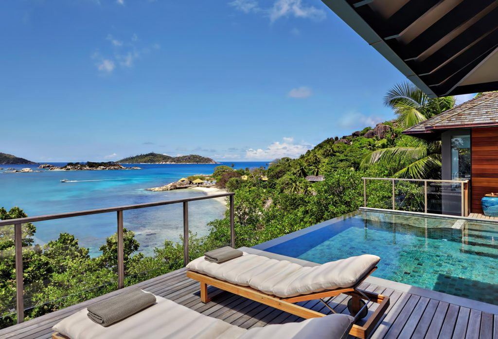 Six Senses Zil Pasyon Luxury Resort - Felicite Island, Seychelles - Oceanfront Pool Villa Deck