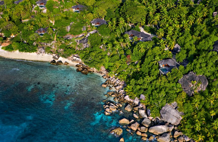 Six Senses Zil Pasyon Luxury Resort - Felicite Island, Seychelles - Resort Villas Aerial