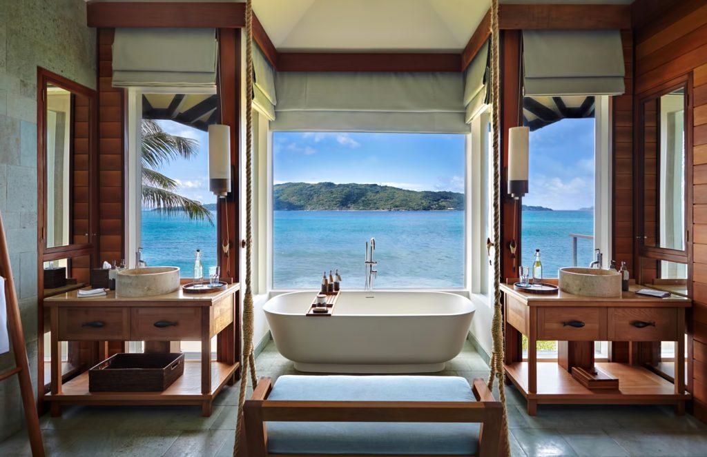 Six Senses Zil Pasyon Luxury Resort - Felicite Island, Seychelles - Panorama Pool Villa Bathroom