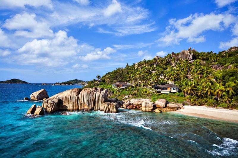 Six Senses Zil Pasyon Luxury Resort - Felicite Island, Seychelles - Pasyon Pool Villas Aerial View