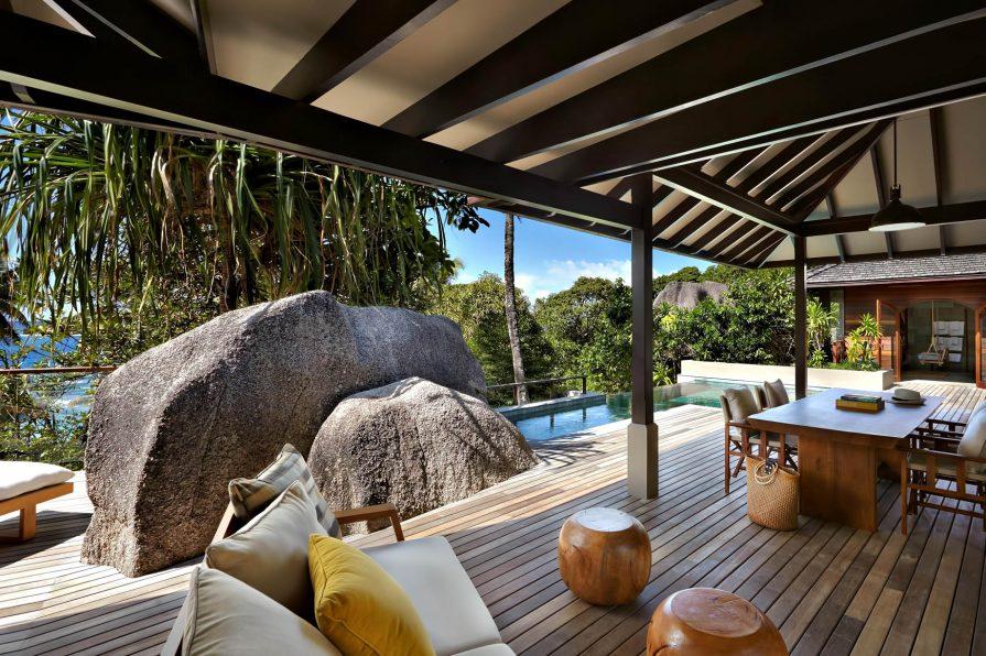 Six Senses Zil Pasyon Luxury Resort - Felicite Island, Seychelles - Two Bedroom Pool Villa Deck