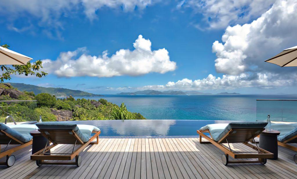 Six Senses Zil Pasyon Luxury Resort - Felicite Island, Seychelles - Three Bedroom Residence Pool Deck