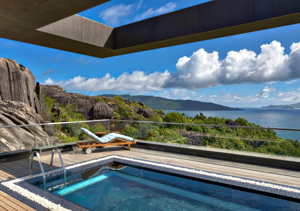 Six Senses Zil Pasyon Luxury Resort - Felicite Island, Seychelles - Three Bedroom Residence Master Pool Deck
