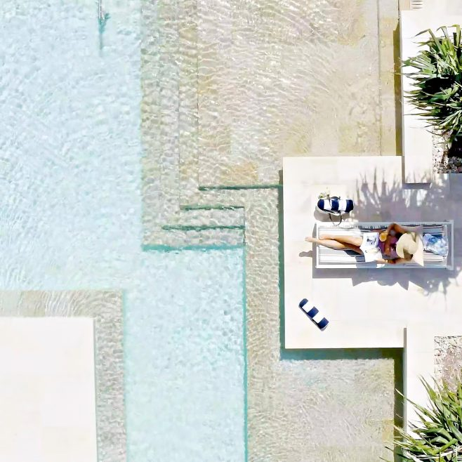 InterContinental Hayman Island Resort - Whitsunday Islands, Australia - Poolside Overhead View