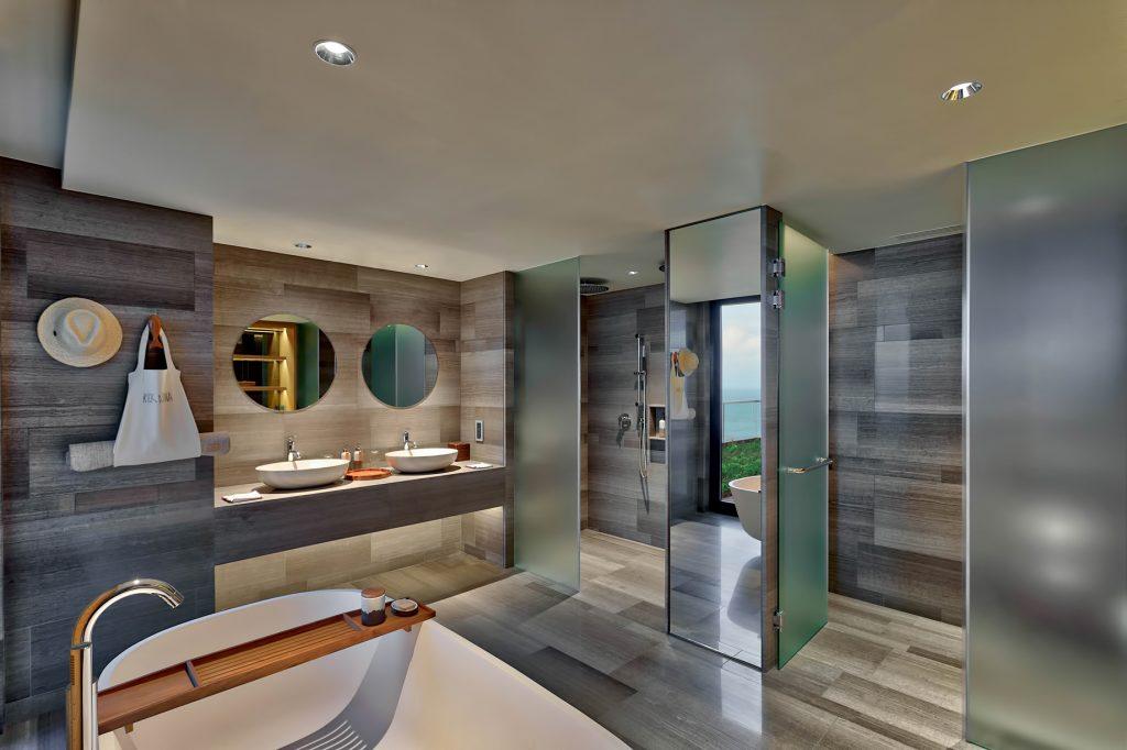 Six Senses Zil Pasyon Luxury Resort - Felicite Island, Seychelles - Three Bedroom Residence Bathroom