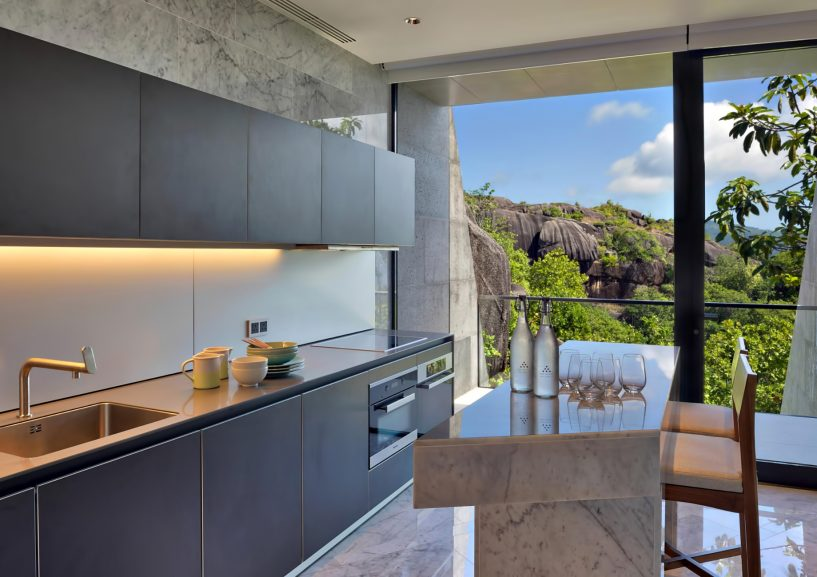 Six Senses Zil Pasyon Luxury Resort - Felicite Island, Seychelles - Three Bedroom Residence Kitchen