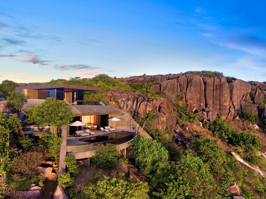 Six Senses Zil Pasyon Luxury Resort - Felicite Island, Seychelles - Three Bedroom Residence Exterior Island View