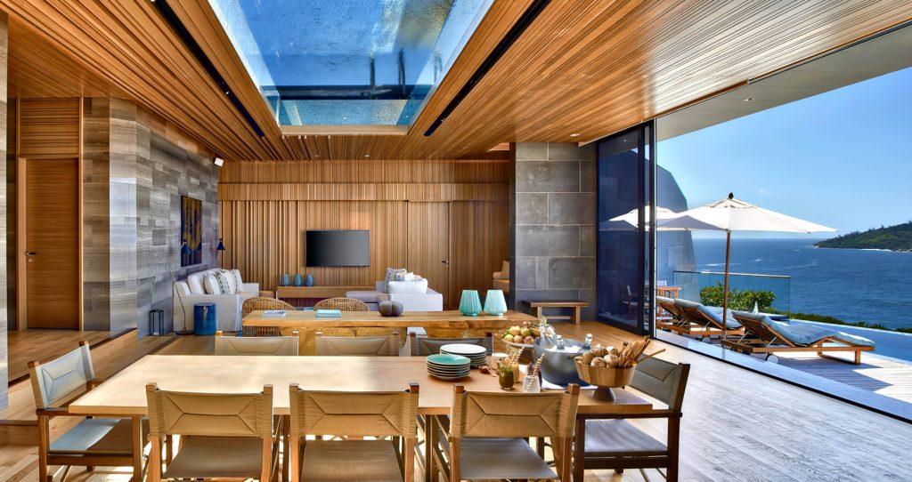Six Senses Zil Pasyon Luxury Resort - Felicite Island, Seychelles - Four Bedroom Residence Living Room
