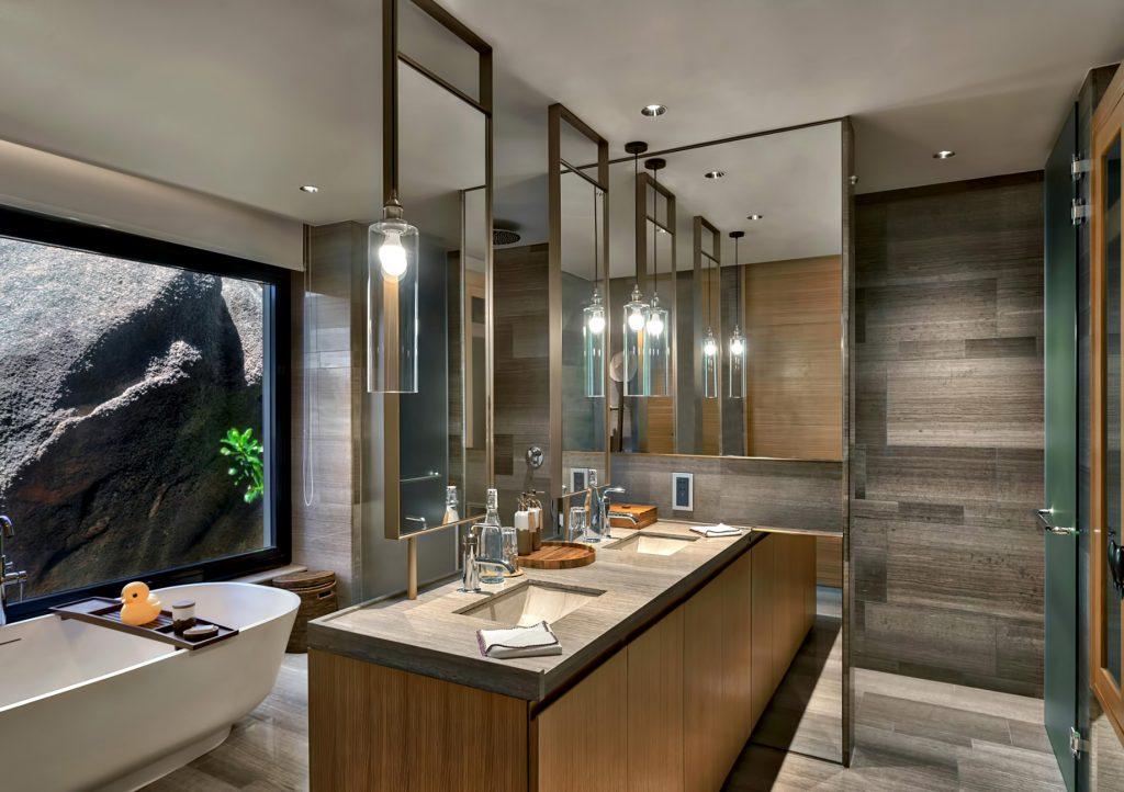 Six Senses Zil Pasyon Luxury Resort - Felicite Island, Seychelles - Four Bedroom Residence Bathroom
