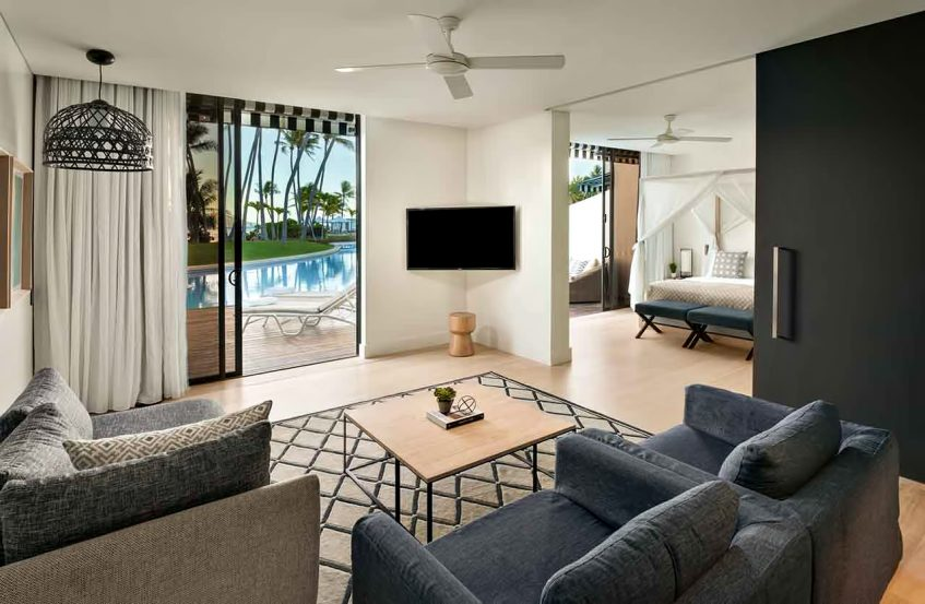 InterContinental Hayman Island Resort - Whitsunday Islands, Australia - One Bedroom Pool Access Suite Lounge Area
