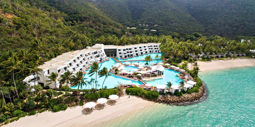 InterContinental Hayman Island Resort - Whitsunday Islands, Australia - Resort Pool Beach Aerial