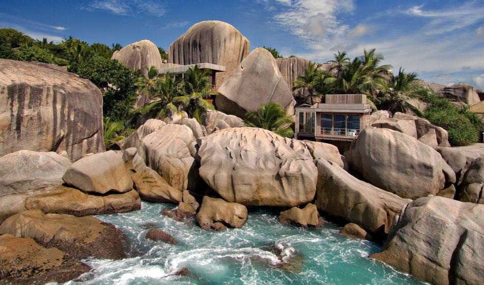 Six Senses Zil Pasyon Luxury Resort - Felicite Island, Seychelles - Spa Exterior Aerial