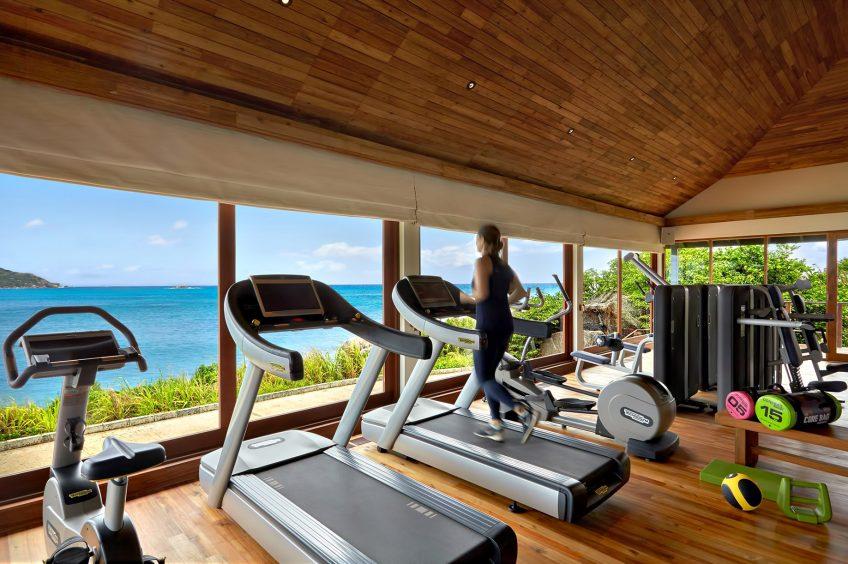 Six Senses Zil Pasyon Luxury Resort - Felicite Island, Seychelles - Tropical Ocean View Gym
