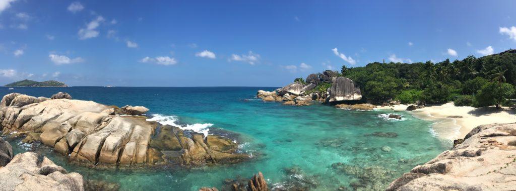 Six Senses Zil Pasyon Luxury Resort - Felicite Island, Seychelles - Tropical Rocky Beach