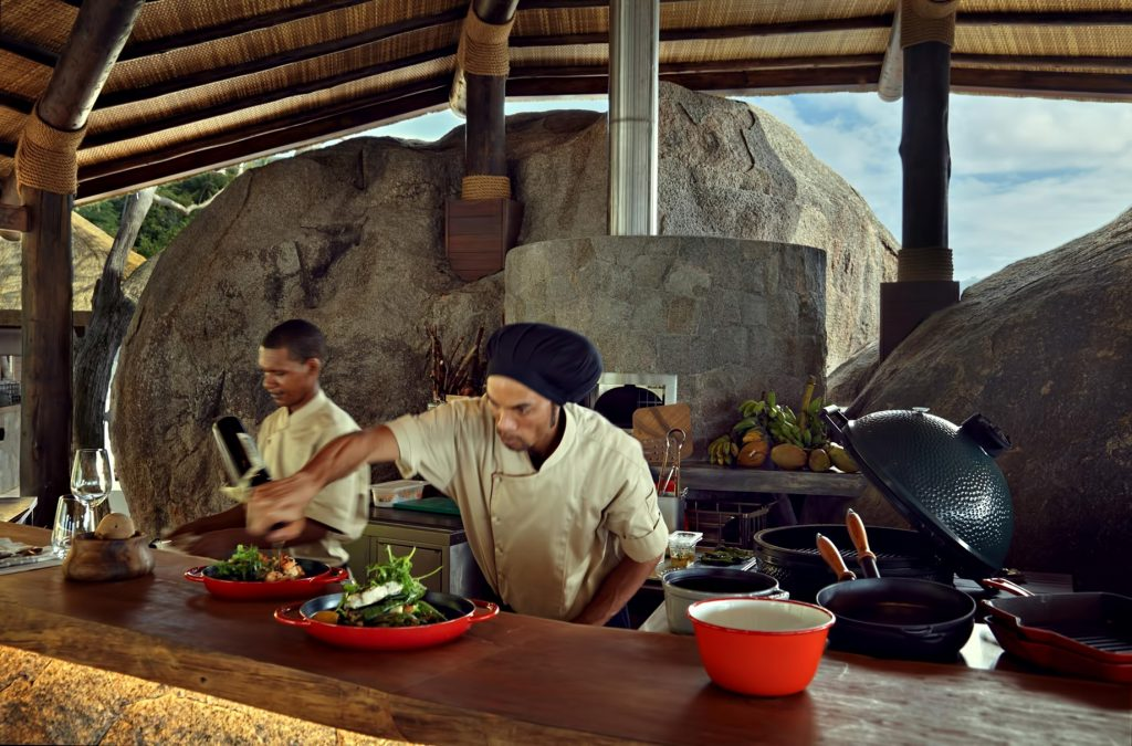 Six Senses Zil Pasyon Luxury Resort - Felicite Island, Seychelles - Ocean Kitchen