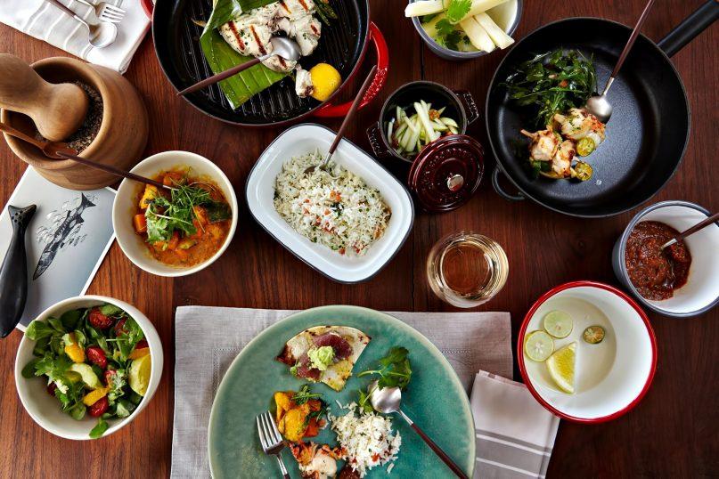 Six Senses Zil Pasyon Luxury Resort - Felicite Island, Seychelles - Ocean Kitchen Dishes
