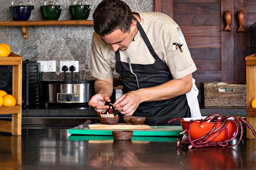 Six Senses Zil Pasyon Luxury Resort - Felicite Island, Seychelles - Gourmet Chef Food Prep