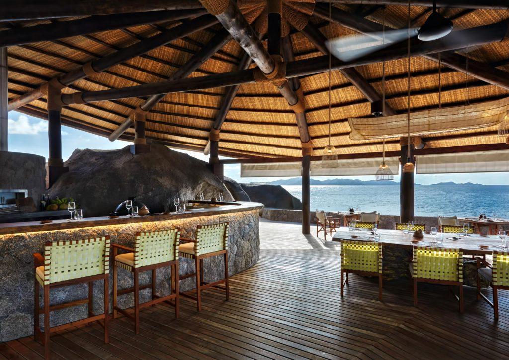 Six Senses Zil Pasyon Luxury Resort - Felicite Island, Seychelles - Oceanfront Restaurant