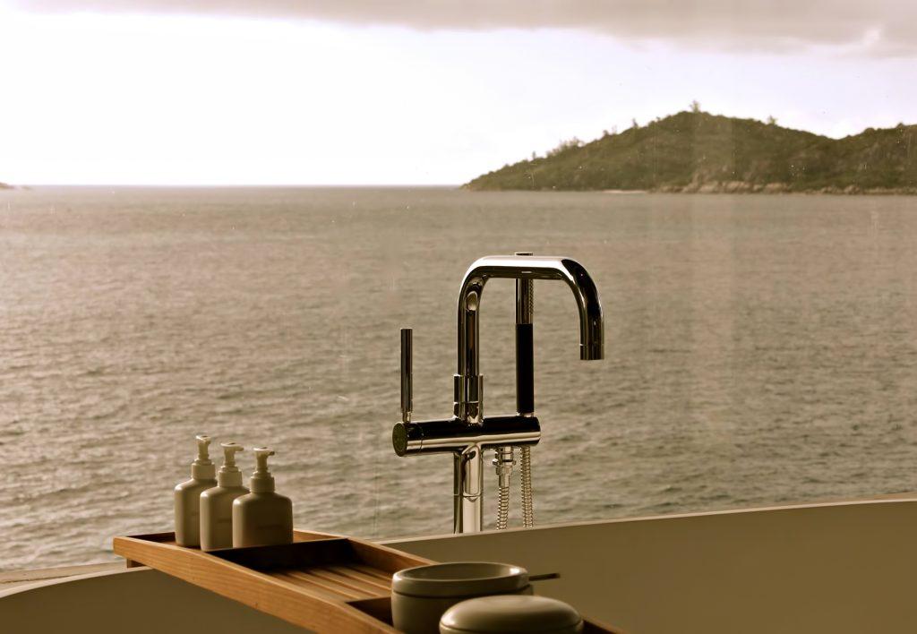 Six Senses Zil Pasyon Luxury Resort - Felicite Island, Seychelles - Tropical Ocean View Bath Tub