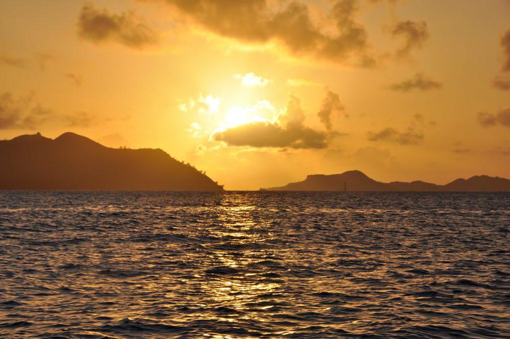 Six Senses Zil Pasyon Luxury Resort - Felicite Island, Seychelles - Island Sunset