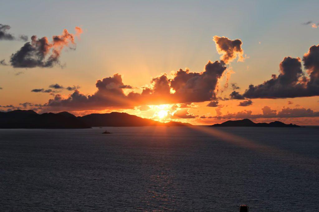 Six Senses Zil Pasyon Luxury Resort - Felicite Island, Seychelles - Sunset Island View