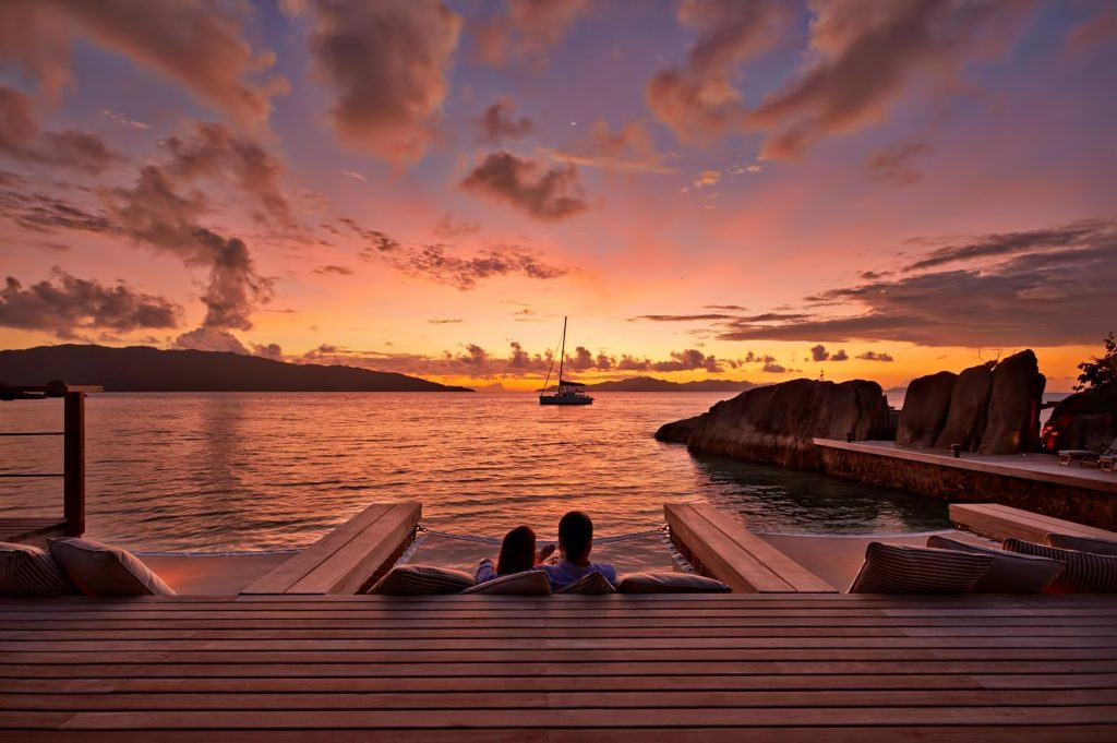 Six Senses Zil Pasyon Luxury Resort - Felicite Island, Seychelles - Sunset from Koko Bar