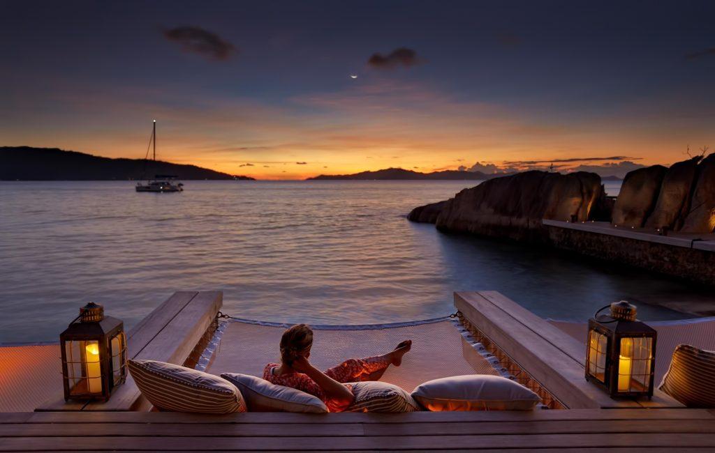 Six Senses Zil Pasyon Luxury Resort - Felicite Island, Seychelles - Koko Bar Lounge Sunset