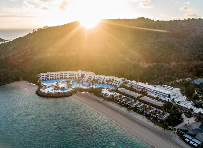 InterContinental Hayman Island Resort - Whitsunday Islands, Australia - Resort Sunset Aerial