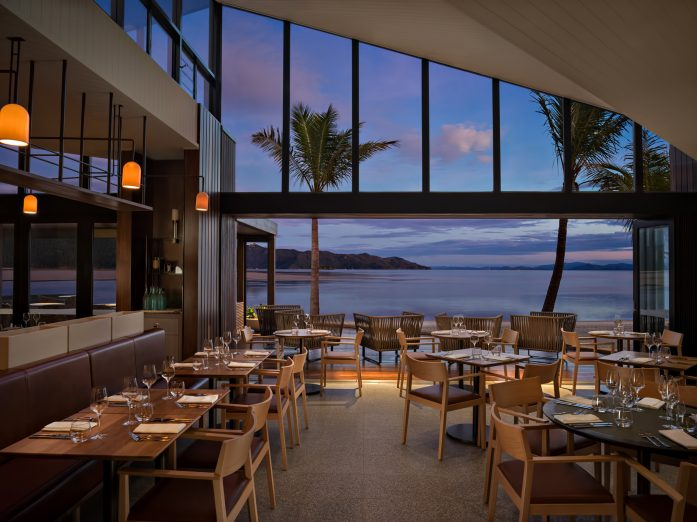 InterContinental Hayman Island Resort - Whitsunday Islands, Australia - Pacific Restaurant Oceanfront View Twilight