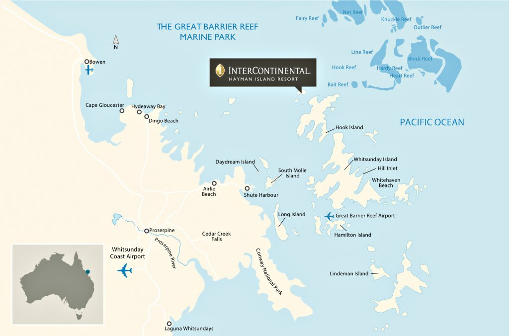 Map - InterContinental Hayman Island Resort - Whitsunday Islands, Australia