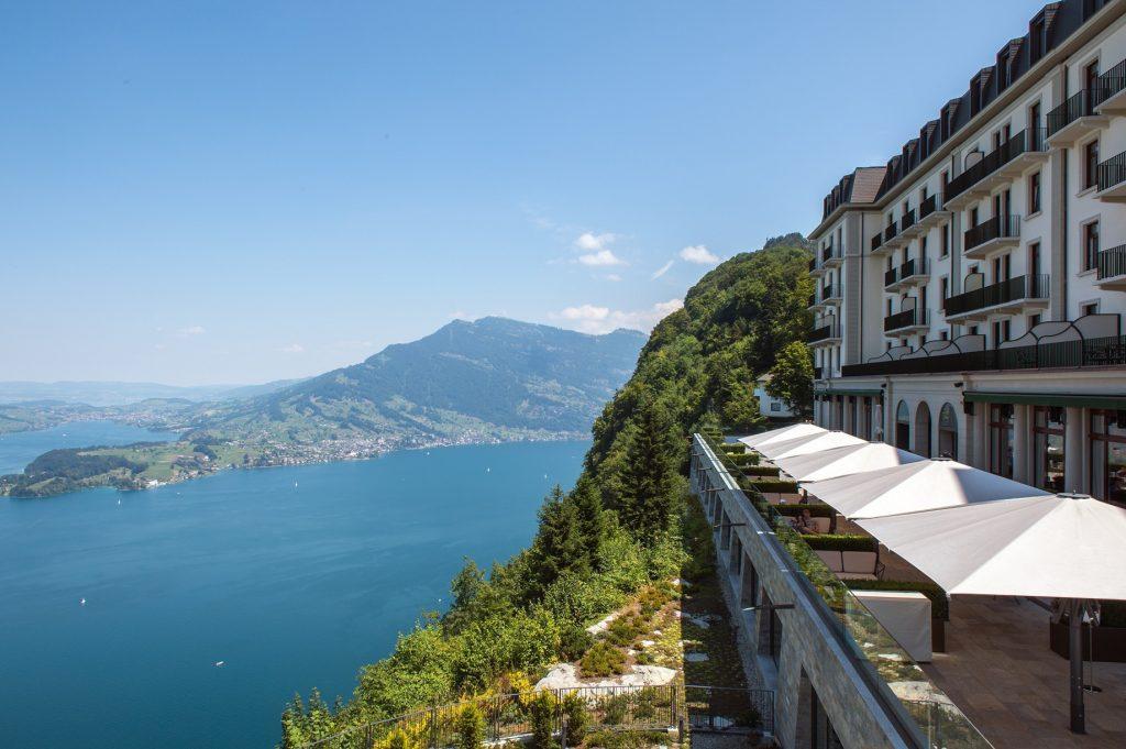 Palace Hotel - Burgenstock Hotels & Resort - Obburgen, Switzerland - Lake Lucerne Terrace View