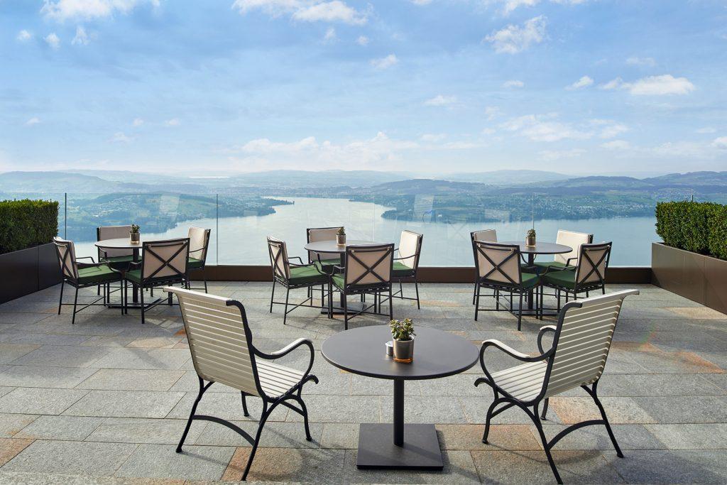 Palace Hotel - Burgenstock Hotels & Resort - Obburgen, Switzerland - Terrace Lake Lucerne View