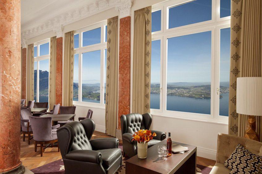 Palace Hotel - Burgenstock Hotels & Resort - Obburgen, Switzerland - Lobby Lounge