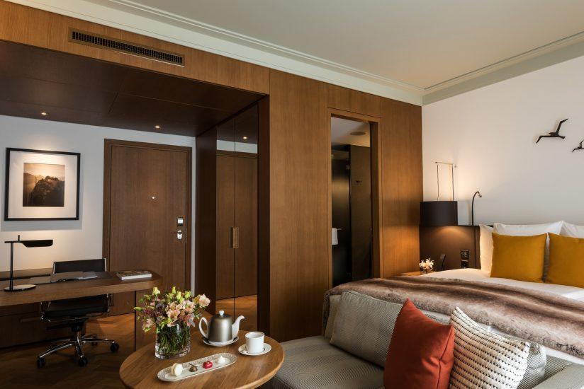 Palace Hotel - Burgenstock Hotels & Resort - Obburgen, Switzerland - Deluxe Alpine View Room Living Area