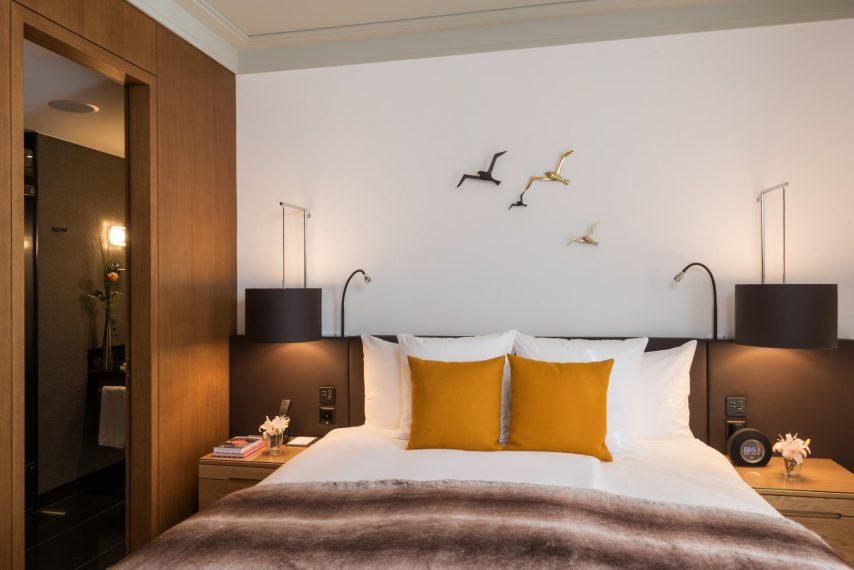 Palace Hotel - Burgenstock Hotels & Resort - Obburgen, Switzerland - Deluxe Alpine View Room Bed