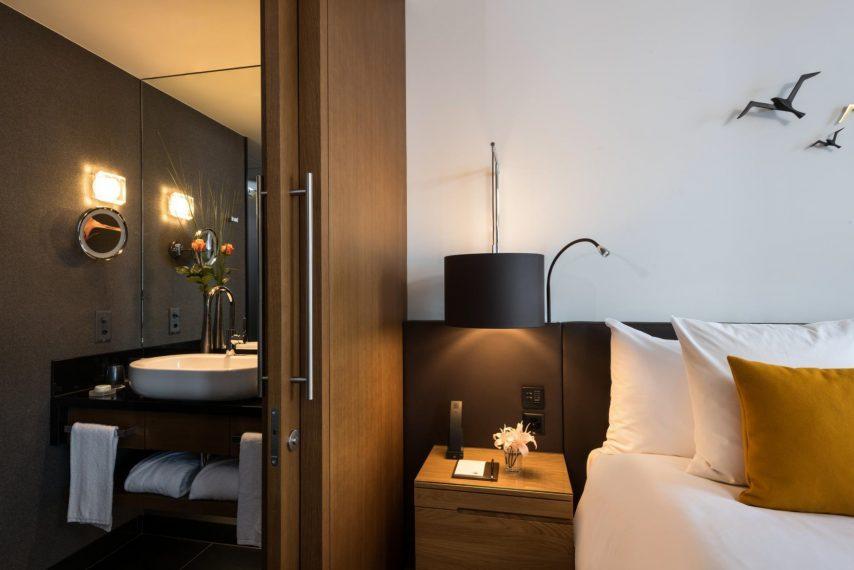 Palace Hotel - Burgenstock Hotels & Resort - Obburgen, Switzerland - Deluxe Alpine View Bedroom Bathroom