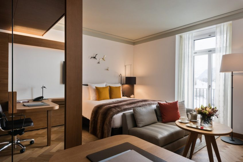 Palace Hotel - Burgenstock Hotels & Resort - Obburgen, Switzerland - Deluxe Alpine View Room Bedroom
