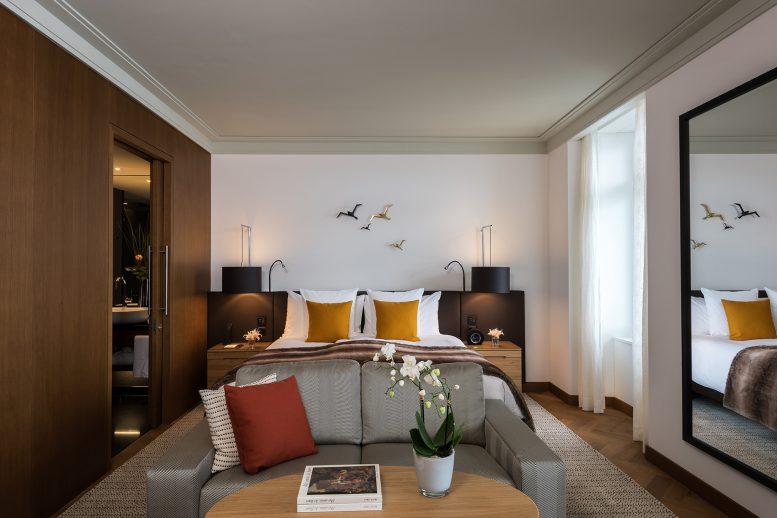 Palace Hotel - Burgenstock Hotels & Resort - Obburgen, Switzerland - Executive Room Lake View Bedroom